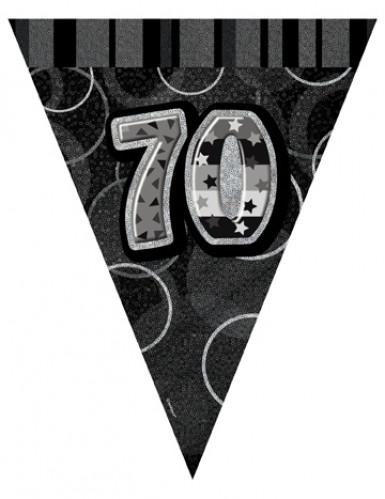Guirlande Fanions gris Age 70 ans