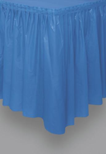 Jupe de table bleue en plastique