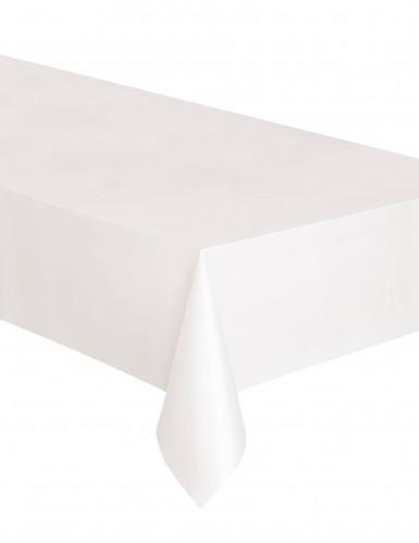 Nappe rectangulaire en plastique blanche 137 x 274 cm