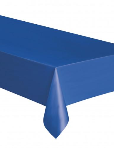 Nappe rectangulaire en plastique bleue 137 x 274 cm