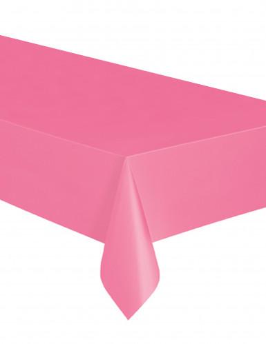 Nappe rectangulaire en plastique rose 137 x 274 cm