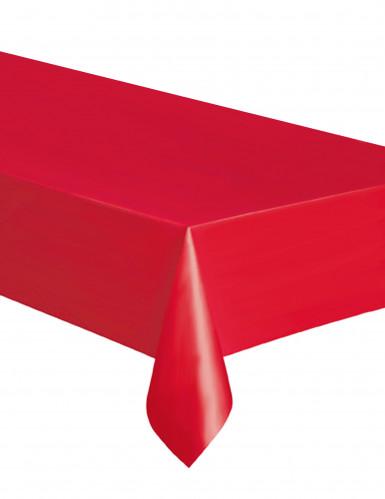 Nappe rectangulaire rouge en plastique