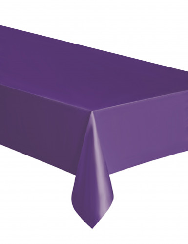 Nappe rectangulaire en plastique violette 137 x 274 cm