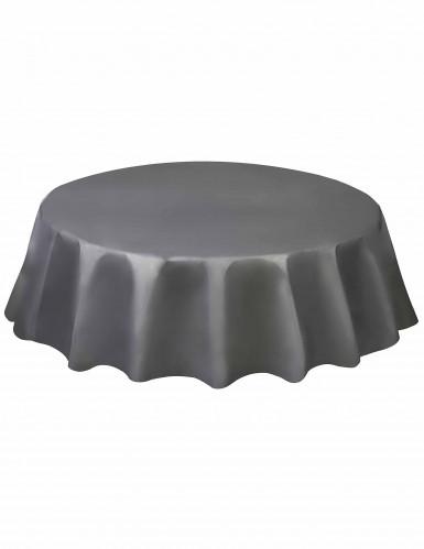 Nappe ronde en plastique argent 213 cm