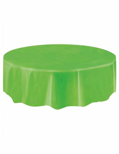 Nappe ronde en plastique vert citron 213 cm-1