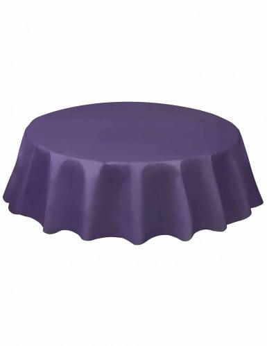 Nappe ronde en plastique violette 213 cm