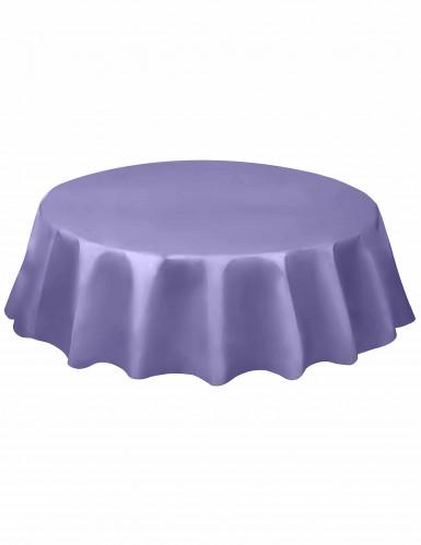 Nappe ronde en plastique lavande 213 cm