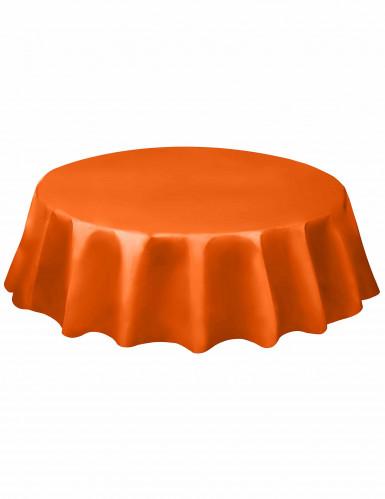 Nappe ronde orange en plastique