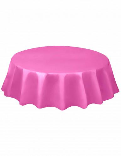 Nappe ronde rose en plastique