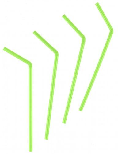 50 Pailles flexibles vertes