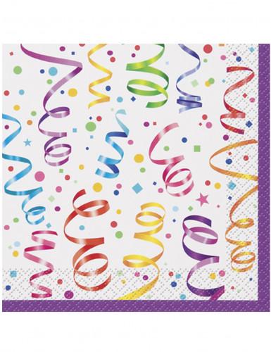 16 Serviettes en papier Célébration 33 x 33 cm