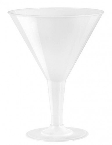 6 coupes martini blanches