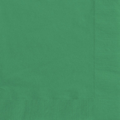 50 Serviettes vertes 33 x 33 cm