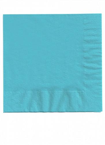 50 serviettes bleu clair 33 x 33 cm