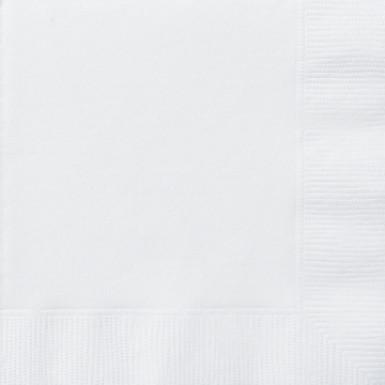 50 Serviettes blanches 33 x 33 cm