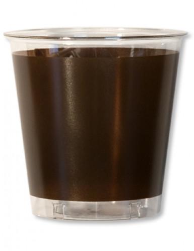 10 Gobelets Cristal Chocolat