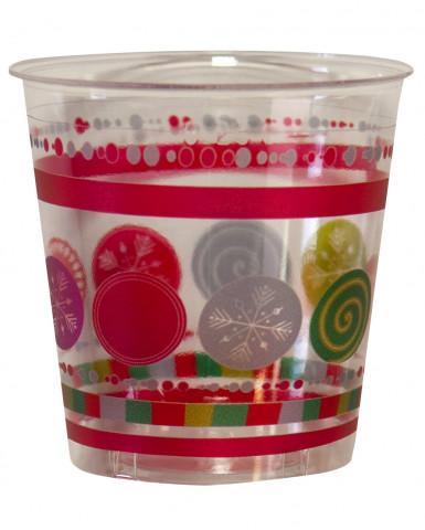 10 Gobelets Cristal boules de Noël