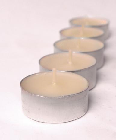 6 bougies chauffe-plats ivoire