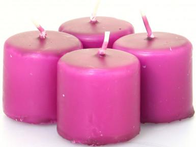 4 bougies prune (Dia. 3,8 cm)