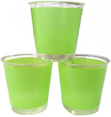 10 Gobelets Cristal Vert