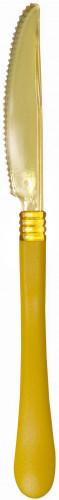 10 Couteaux jaunes tête transparente