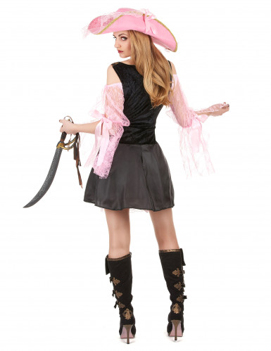 Déguisement pirate rose luxe femme-2