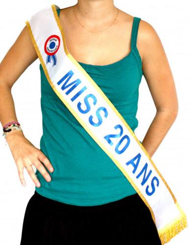 Echarpe bleu Miss 20 ans
