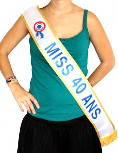 Echarpe bleue Miss 40 ans