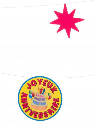 1 Guirlande fil Joyeux Anniversaire 10 mètres multicolores-1