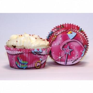 50 moules en papier pour cupcake Princesse