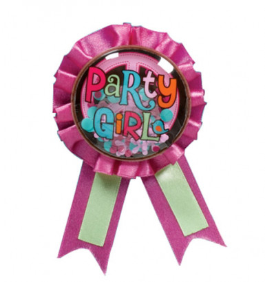 Médaille ruban Party Girl