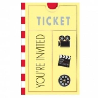 8 cartes d'invitation Hollywood