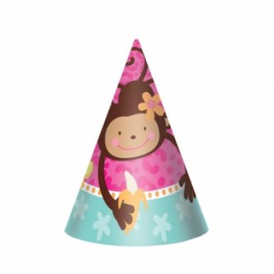 8 chapeaux de fête Singe d'amour