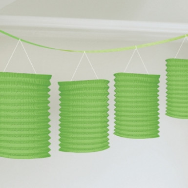Guirlande lanterne verte