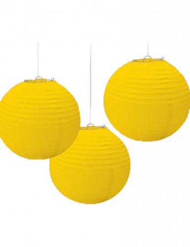3 Lanternes jaune