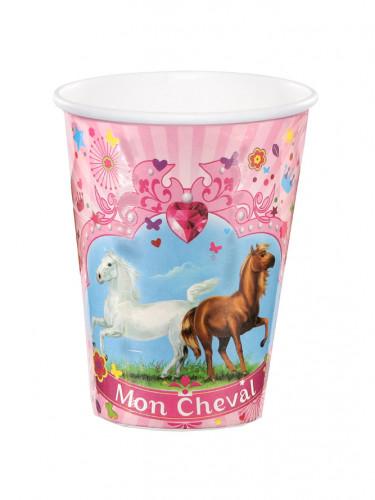 6 gobelets Mon Cheval