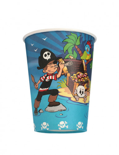 6 gobelets Pirate