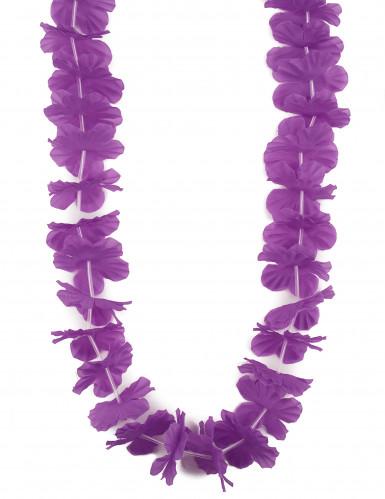 Collier Hawaï fleurs violet