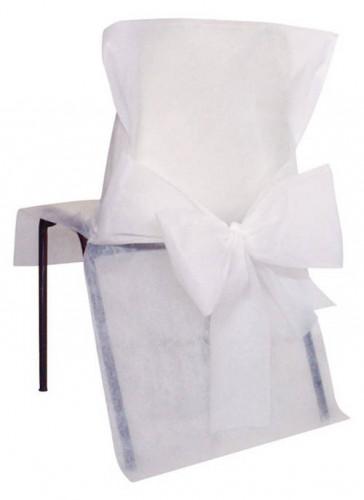 10 Housses de chaise Premium blanches