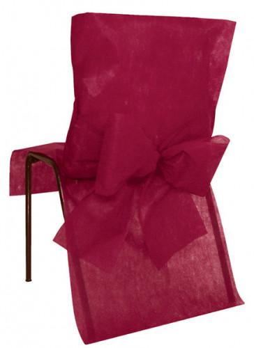 10 Housses de chaise Premium bordeaux