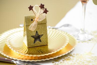 Petit bouquet 12 étoiles Chocolat 11 cm-1