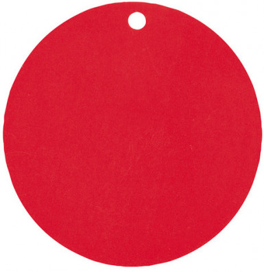 10 Marque-places carton rouge