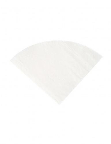 20 Serviettes en papier Blanche ronde 30 cm