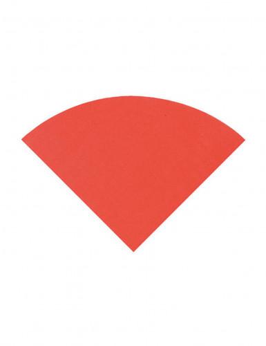 20 Serviettes en papier Rouge ronde 30 cm