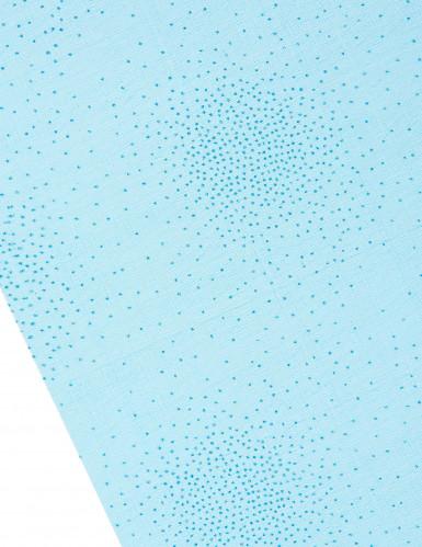 Chemin de table étoilé turquoise 5 m-1