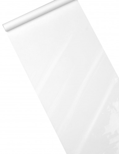 Chemin de table brillant-mat blanc 5 m