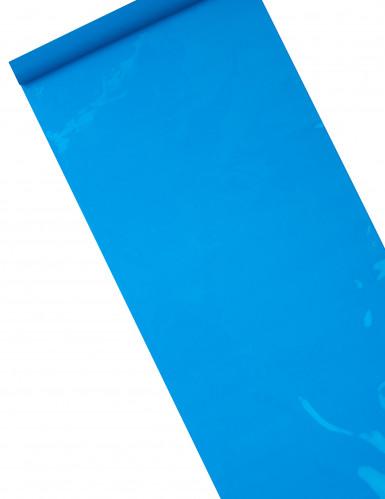 Chemin de table brillant-mat turquoise 5 m