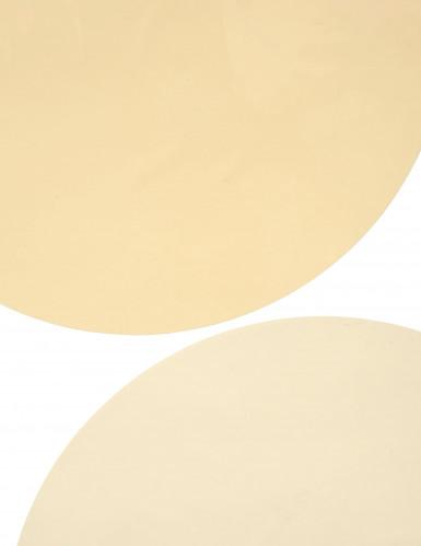 6 Sets de table rond ivoire-2