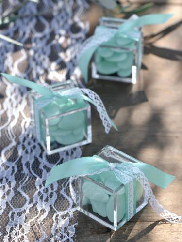 4 Boîtes cube Transparente-1