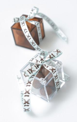 4 Boîtes cube Transparente-3